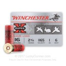 "Cheap 16 Gauge Ammo For Sale - 2-3/4"" 1 oz. #6 Shot Ammunition in Stock by Winchester Super-X - 25 Rounds"