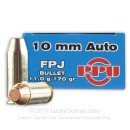 Cheap 10mm Auto Ammo For Sale - 170 Grain FPJ Ammunition in Stock by Prvi Partizan - 50 Rounds