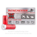 "Cheap 12 Gauge Ammo - 2-3/4"" Small Game Shot Shells - 1-1/8 oz - #7.5 Lead Shot - Winchester Super-X - 25 Rounds"