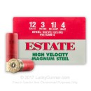 """Cheap12 Gauge Ammo For Sale - 3"""" 1-3/8 oz. #4 Steel Shot Ammunition in Stock by Estate HV - 25 Rounds"""
