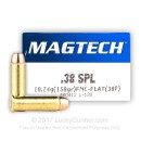 38 Special Ammo For Sale - 158 gr FMJ Flat Magtech Ammunition In Stock