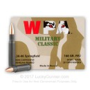 Bulk 30-06 Ammo For Sale - 168 Grain FMJ Ammunition in Stock by WPA Military Classic - 500 Rounds