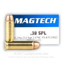 Cheap 38 Special Ammo For Sale - 158 gr FMJ Flat Magtech Ammunition In Stock - 50 Rounds