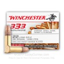 22 LR Ammo For Sale - 36 gr Copper Plated Hollow Point Ammunition CPHP - Winchester - 333 Rounds