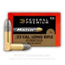 Premium 22 LR Match Ammo For Sale - 40 gr solid Match 922A Ammunition by Federal Premium In Stock - 50 Rounds