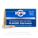 Cheap 6.52x52mm Carcano Ammo For Sale - 139 gr FMJ-BT Ammunition In Stock by Prvi Partizan - 20 Rounds