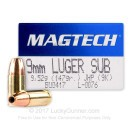 Cheap 9mm Luger Subsonic JHP Ammo For Sale - 147 gr JHP - Magtech Ammunition In Stock - 50 Rounds