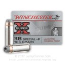Cheap 38 Special Ammo For Sale - 125 Grain +P SJHP Ammunition in Stock by Winchester Super-X - 50 Rounds