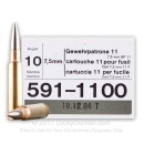 Cheap 7.5x55 Swiss Ammo For Sale - 174 gr FMJBT - GP11 - Ammunition In Stock by RUAG Munitions - 10 Rounds