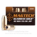 40 S&W Ammo - 155 gr JHP - Magtech Guardian Gold 40 S&W Ammunition - 20 Rounds