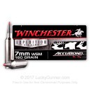 Premium 7mm WSM Ammo For Sale - 160 Grain Nosler AccuBond Ammunition in Stock by Winchester Expedition Big Game - 20 Rounds