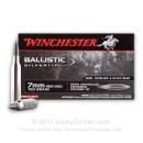 Premium 7mm Remington Mag Ammo For Sale - 150 Grain Ballistic Silvertip Ammunition In Stock by Winchester - 20 Rounds