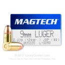 Cheap 9mm Luger Ammo For Sale - 124 gr JSP - Magtech Ammunition In Stock - 50 Rounds