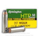 Cheap 357 Magnum Ammo For Sale - 110 gr JHP Remington HTP Ammunition In Stock - 50 Rounds