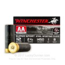 """12 Gauge Ammo - Winchester 2-3/4"""" #8 AA Steel Sporting Clay - 25 Rounds"""