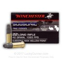 Bulk 22 LR Ammo For Sale - 42 Grain Lead Hollow Point - Winchester Subsonic 42 Max - 500 Rounds