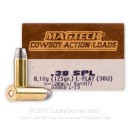 38 Special Ammo For Sale - 125 gr LFN Magtech Cowboy Ammo Online - 50 Rounds