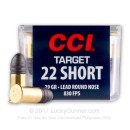 Cheap 22 Short Ammo For Sale - 29 gr LRN - CCI Short Target Ammunition In Stock - 100 Rounds