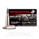 Cheap 7mm-08 Remington Ammo For Sale - 140 gr - Winchester Ballistic Silvertip Ammo Online - 20 Rounds