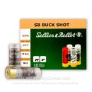 "12 ga Ammo For Sale - 2-3/4"" 00 Buck 9 Pellet Ammunition by Sellier & Bellot"
