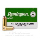 44 Magnum - 180 gr JSP - Remington UMC - 50 Rounds