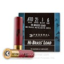 "410 ga - 2-1/2"" 1/2 oz #6 Game Load - Federal Game Shok  - 25 Rounds"