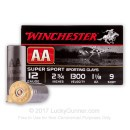 """12 Gauge Ammo - Winchester 2-3/4"""" #9 AA Sport. Clay - 25 Rounds"""