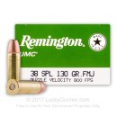 38 Special Ammo For Sale - 130 gr MC - Remington UMC Ammunition - 500 Rounds