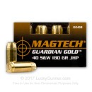 40 S&W Ammo - 180 gr JHP - Magtech Guardian Gold 40 S&W Ammunition - 20 Rounds