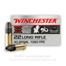 Premium 22 LR Ammo For Sale - 40 Grain Subsonic LHP Ammunition in Stock by Winchester Super-X - 50 Rounds