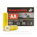 "Bulk 20 Gauge Ammo For Sale - 2-3/4"" 1oz. #8 Shot Ammunition in Stock by Winchester Heavy Target - 250 Rounds"