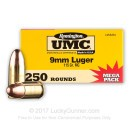 9mm Ammo For Sale - 115 gr MC - Remington UMC Ammunition In Stock - 1000 Rounds