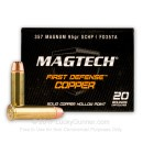 357 Mag Ammo For Sale - 95 gr SCHP - Magtech First Defense Ammunition In Stock - 20 Rounds