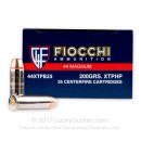 Cheap .44 Magnum Ammo For Sale – 200 Grain JHP Ammunition in Stock by Fiocchi - 25 Rounds