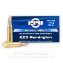 Cheap 223 Rem Ammo For Sale - 62 Grain FMJ Ammunition in Stock by Prvi Partizan - 20 Rounds