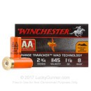 Premium 12 Gauge Ammo For Sale - 1-1/8 oz #8 Shot Ammunition in Stock by Winchester AA TrAAcker - 25 Rounds