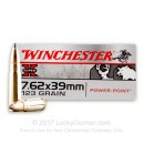 Premium 7.62x39mm Ammo For Sale - 123 Grain SP Ammunition in Stock by Winchester Super-X - 20 Rounds
