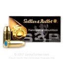 Bulk 9mm Luger Ammo For Sale - 140 Grain Subsonic FMJ Ammunition in Stock by Sellier & Bellot - 1000 Rounds