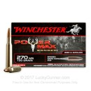 Premium 270 Ammo For Sale - 130 Grain HP Ammunition in Stock by Winchester Power Max - 20 Rounds