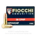 Bulk 22LR Ammo For Sale - 38 Grain High Velocity CPHP Ammunition in Stock by Fiocchi - 500 Rounds