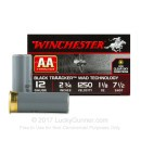 """Cheap12 Gauge Ammo For Sale - 2-3/4"""" 3 Dram 1-1/8 oz. #7-1/2 Shot Ammunition in Stock by Winchester AA Black TrAAcker - 25 Rounds"""