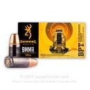 Premium 9mm Ammo For Sale - 147 Grain FMJ Ammunition in Stock by Browning BPT - 50 Rounds