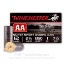 """12 Gauge Ammo - Winchester AA Sporting Clays 2-3/4"""" #7-1/2 Shot - 25 Rounds"""