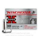 Premium  38 Special Ammo For Sale - +P 158 Grain Semi-Wadcutter HP Ammunition in Stock by Winchester Super-X - 50 Rounds