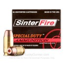 Premium 45 ACP Ammo For Sale - 155 Grain Frangible HP Ammunition in Stock by SinterFire Special Duty - 20 Rounds