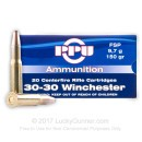 30-30 Ammo For Sale - 150 gr FSP Flat Soft Point Ammunition Online by Prvi Partizan - 20 Rounds