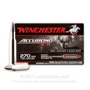Premium 270 Ammo For Sale - 140 Grain Bonded PT Ammunition in Stock by Winchester Accubond - 20 Rounds