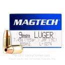 9mm Luger Ammo For Sale - 115 gr JHP Magtech Ammunition In Stock - 50 Rounds