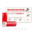 "Bulk 12 Gauge Ammo For Sale - 2 3/4"" 1 oz. #7 1/2 Shot Ammunition in Stock by Winchester Super Target - 250 Rounds"