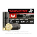 "12 Gauge Ammo - Winchester 2-3/4"" #7-1/2 AA Sport. Clay - 250 Rounds"